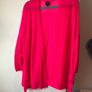 Pretty HOT pink cardigan from Worthington, 3X